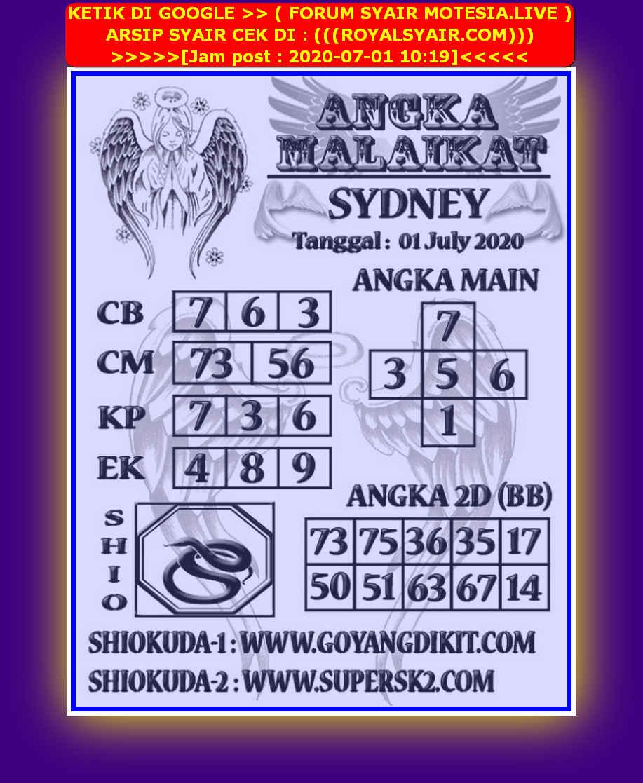 Kode syair Sydney Rabu 1 Juli 2020 214