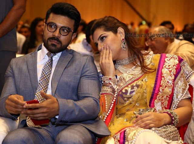 Ramcharan and Upasana at Anirudh Reddy Wedding