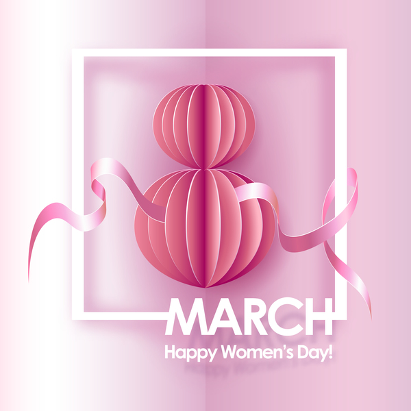 Woman day 8 March women's day cards elegant free vector