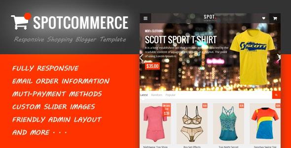 SpotCommerce v1.5 Ecommerce Blogger Template