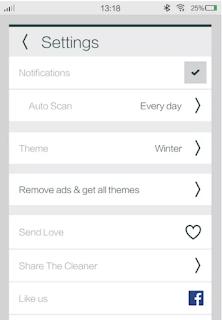 تطبيق The Cleaner لتنظيف وتسريع هاتف اندرويد مجانا