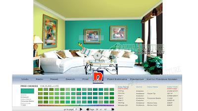 Aplikasi Pengubah Warna Cat Dinding Ruangan Contoh Tampilan Nippon Paint