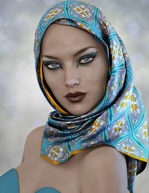 X-Fashion Hijab for Genesis 3 Female
