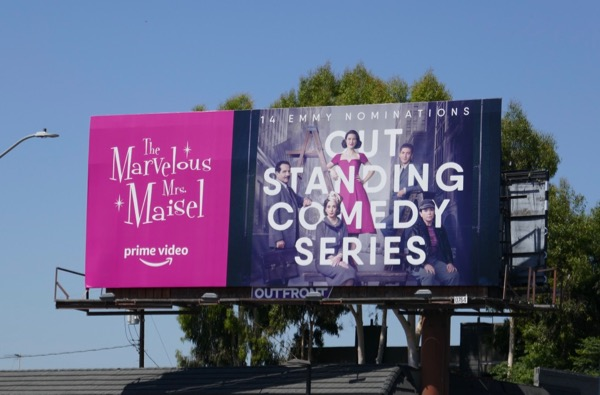 Mrs Maisel Outstanding Comedy Emmy nominee billboard