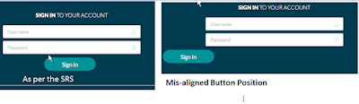button alignment UI testing example