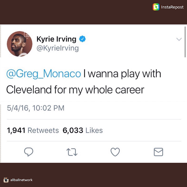 Remember When Kyrie Irving Said He want to Play in Cleveland Forever?