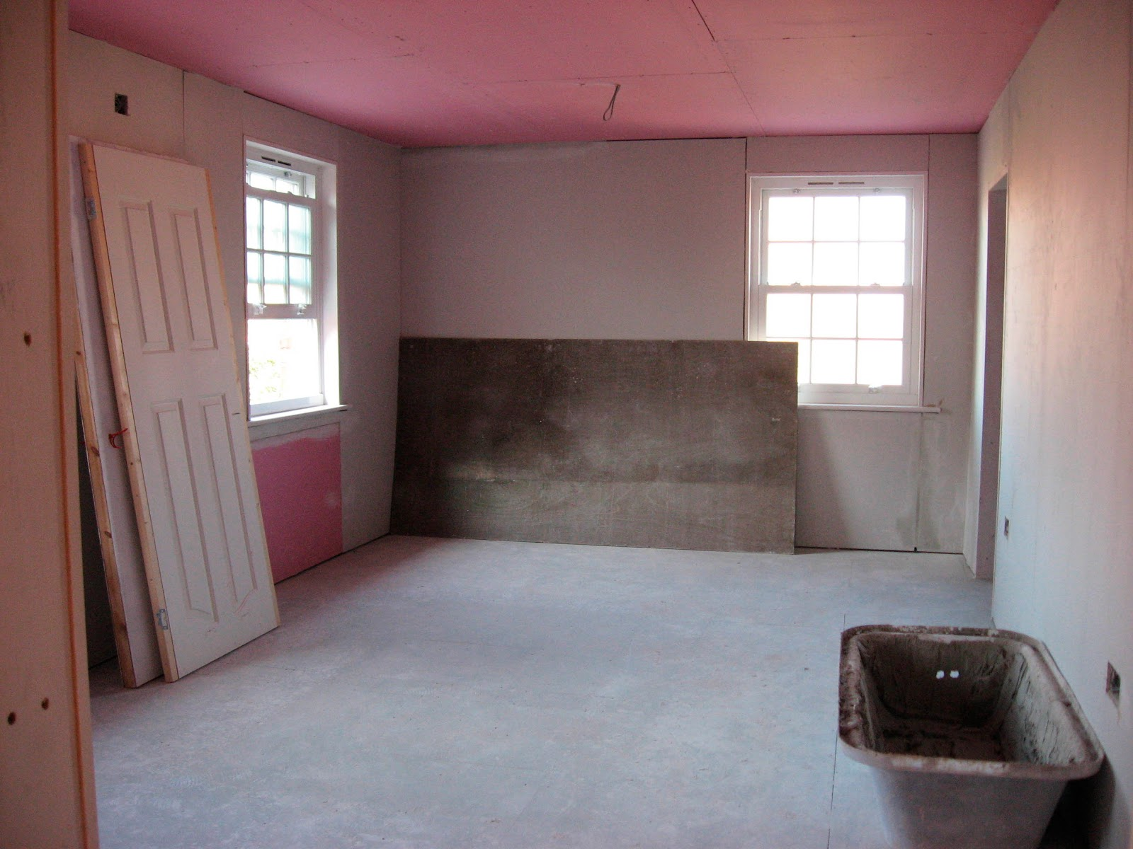 Roze Gipsplaat The Real Self Build Blog Getting Plastered