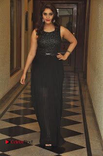 Actress Surabhi Stills in Black Long Dress at turodu Audio Launch  0083.JPG