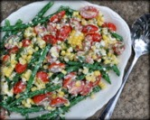 August - Green Bean Garden Salad