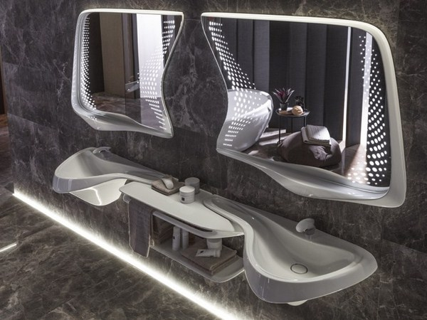 Bathroom Design Zaha Hadid Noken Vitae Sink Mirror