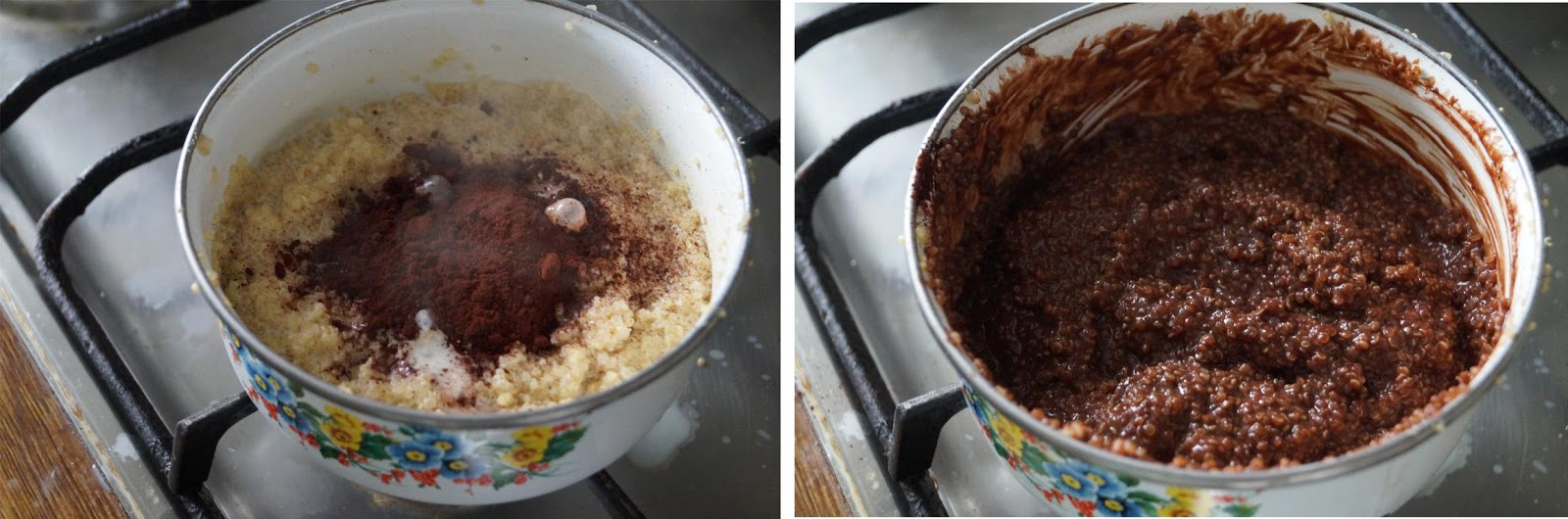 choco quinoa breakfast pudding recipe with step by step photos.