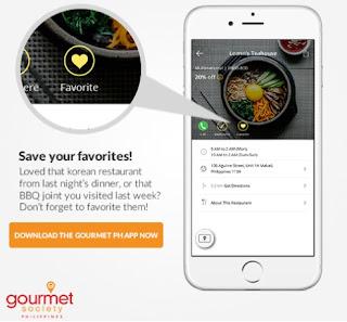 FTW! Blog, Gourmet Society PH App, zhequia.blogspot.com, #FTWblog , #FTWeats, #FoodTalkPH, #GourmetSocietyPH, #foodperks, #Fooddiscounts, #Foodie, #SaveFavorites