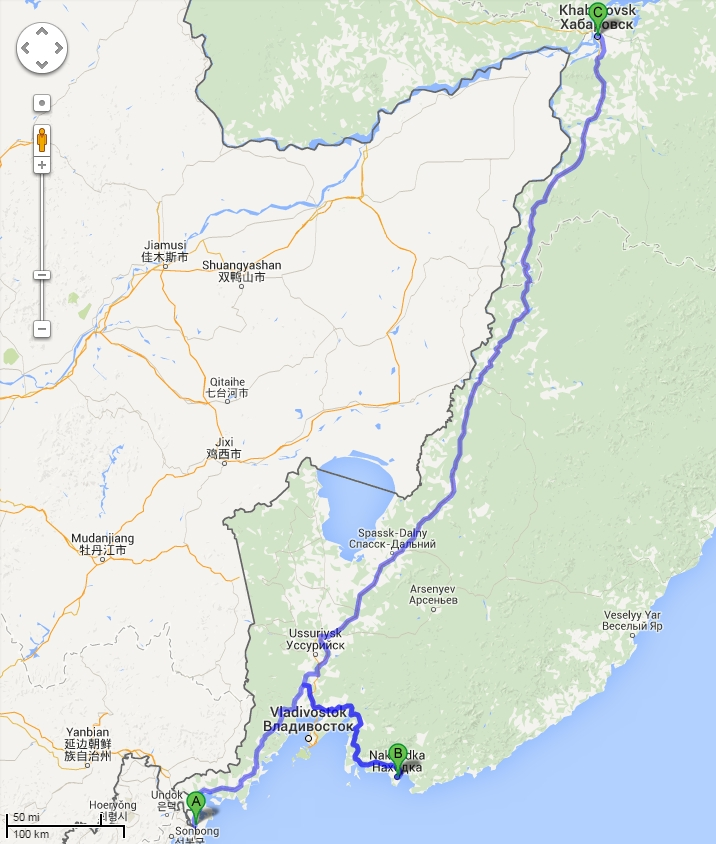 TaoSecurity Where Russia And North Korea Meet - Nakhodka map