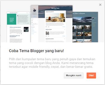 Blogspot Ganti Template Jadi Tema dan 4 Desain Baru