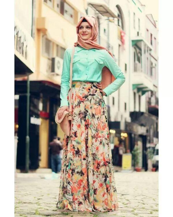 Summer hijab outfit 2015. Hijab Style Fashion