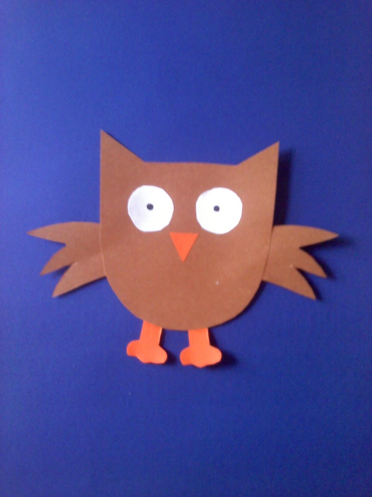 paper plate owl craft laura williams