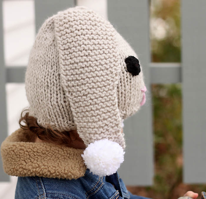 Bunny Ears Knitting Pattern : Bunny Baby Hat Free Knitting Pattern - Gina Michele