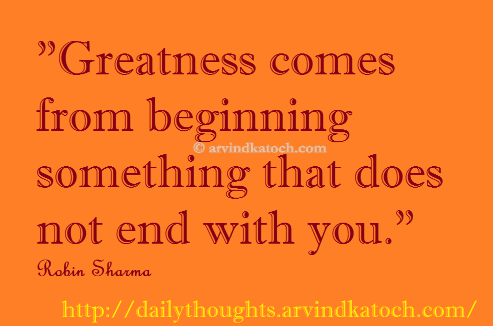 Daily Thought Of Day Picture Message On Greatness