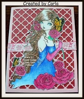 Butterfly Rose Flower Girl