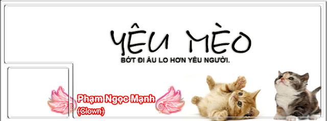 PSD Ảnh Bìa FB Yêu Mèo