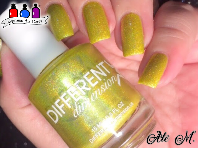 Sugar Bubbles, SB039, Different Dimension, Carpe Diem, Yellow, Holografico, DRK Nails, Extra Black, Alê M.