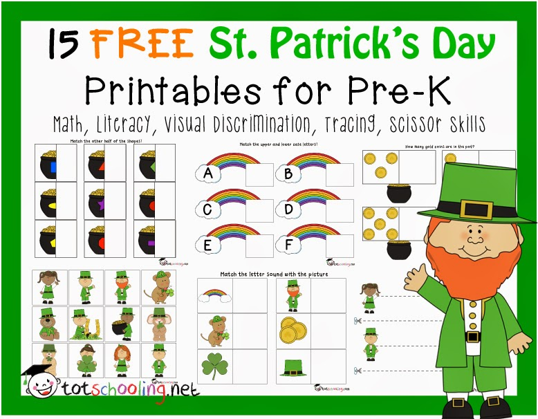 Free St. Patrick's Day Printables for Toddlers and PreK