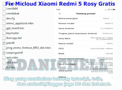 Fix Micloud Xiaomi Redmi 5 Rosy Gratis