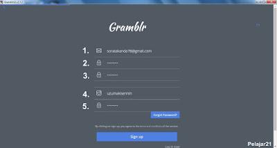 Cara Daftar Akun Gramblr