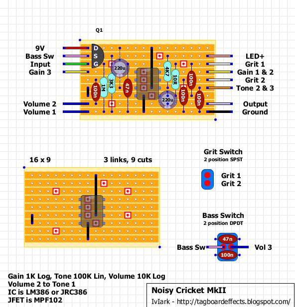 Guitar FX Layouts: Noisy Cricket MkII