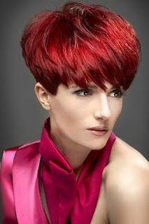 Hair Ink Short Red Hair