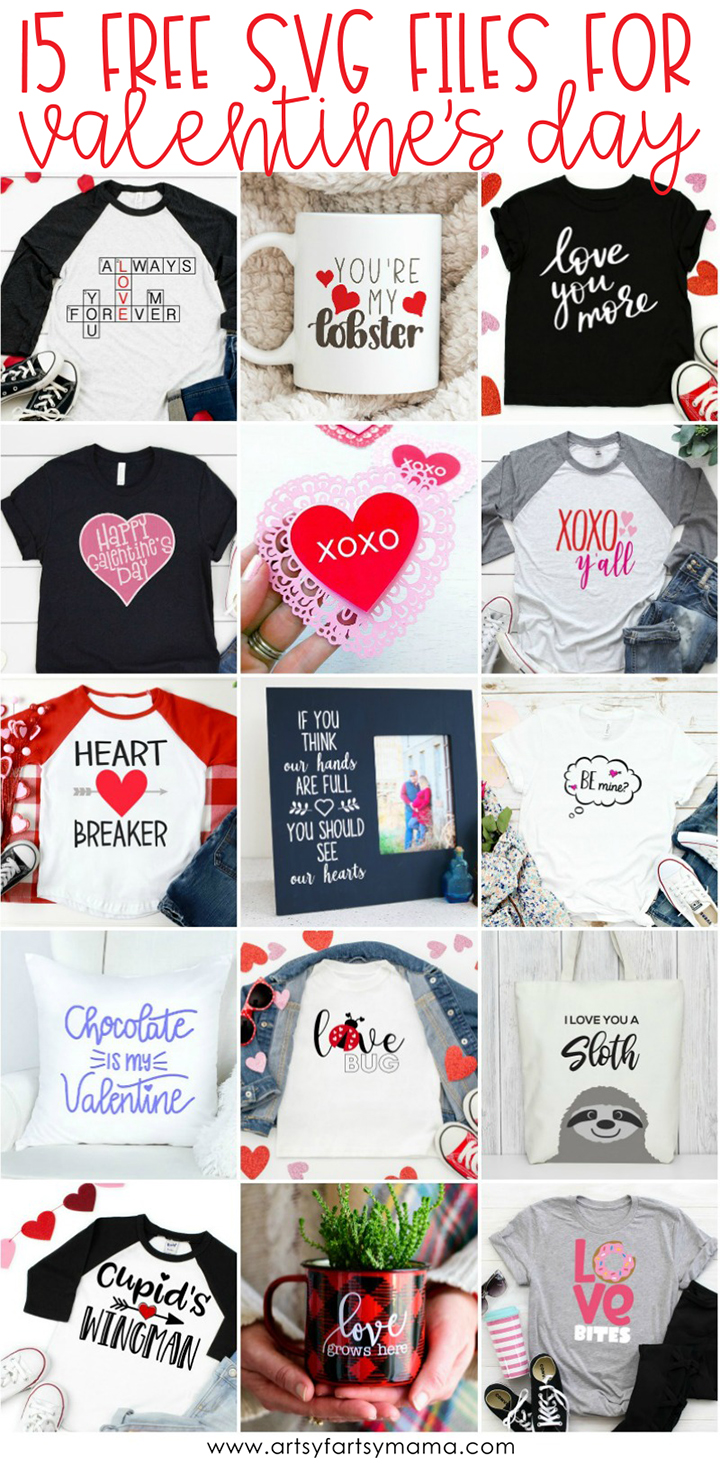 15 FREE Valentine SVG Cut Files