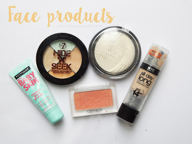 face products from my makeup bag