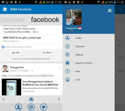 BBM WP with Facebook Fragment V3.0.1.25 Apk