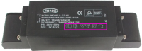 Symbols and marks on Magnetic transformer