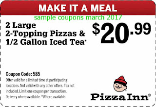 Pizza Inn coupons march