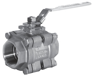 3 piece ball valve with handle