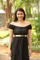 Mannara Chopra in Short Off Shoulder Black Dress ~  Exclusive 046.JPG