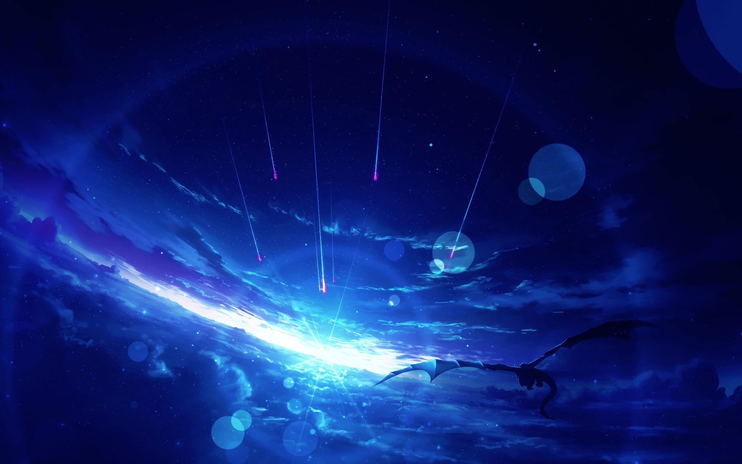 Fantasy Flying Dragon Sunrise Sky Clouds Anime 4k Wallpaper 136