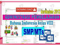 Download Administrasi pembelajaran Bahasa Indonesia kelas VIII SMP/MTs KK 2013