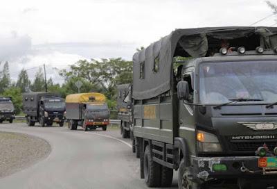 Jelang 1 Desember, TNI Polri Pawai Unjuk Kekuatan