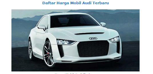 New Audi Cars Price List January 2016 Bagibegi Com