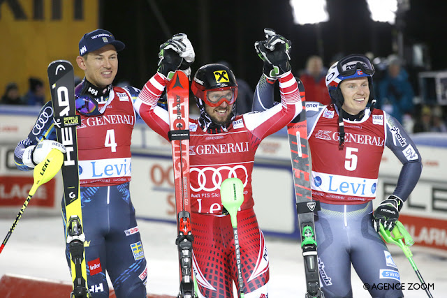 Marcel Hirscher Wins First Slalom of the Season in Levi