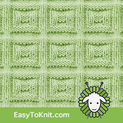 #EasyToKnit, Square Buttons #KnitPurl, free pattern