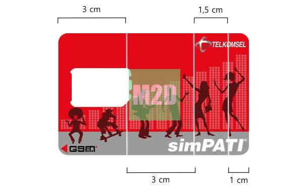 Pola dudukan ponsel Android SIM card