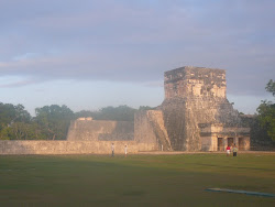 The massive twin walls of Chichen Itza's jai alai court, the largest in all of Central America
