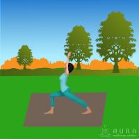 teaching yoga outside