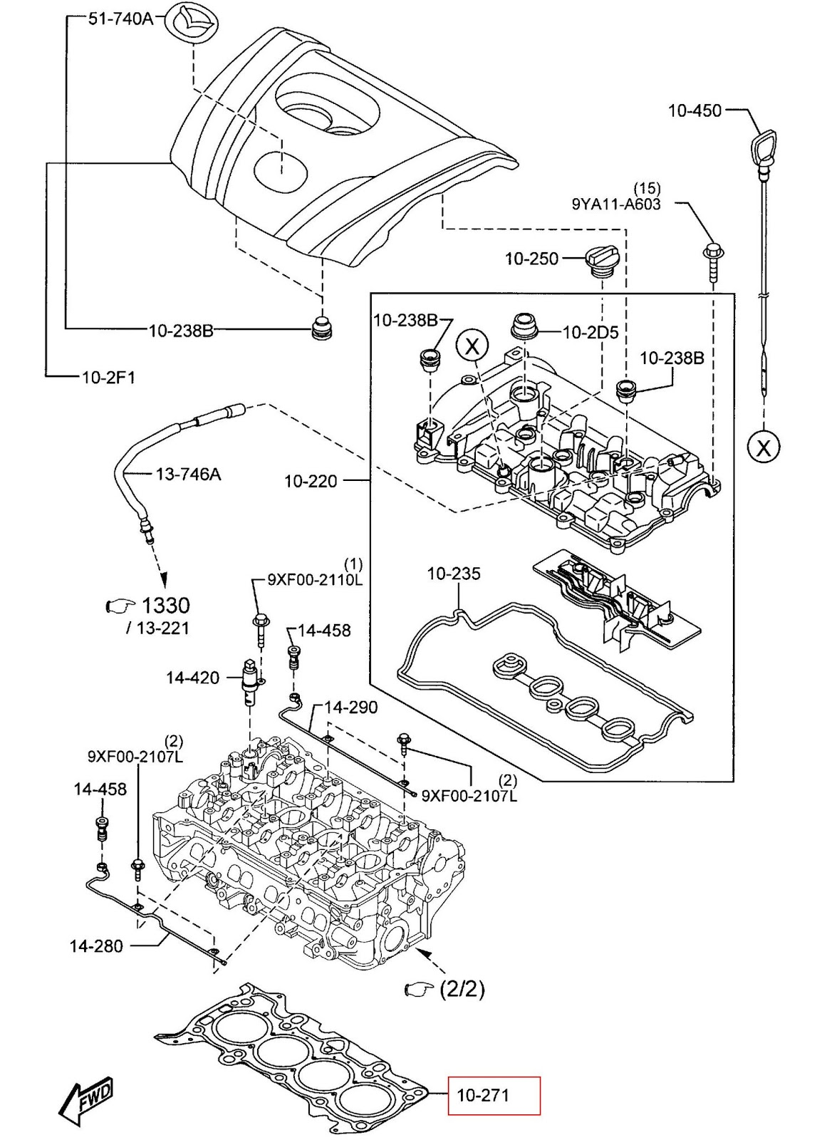 Kp Gasket Mazda Cx 5 Skyactiv Engine Mx 3 Diagram While For The Py Their Part Number Will Be Py01 10 271 And 235 Some Of Parts Between This 2 Are Interchangeable
