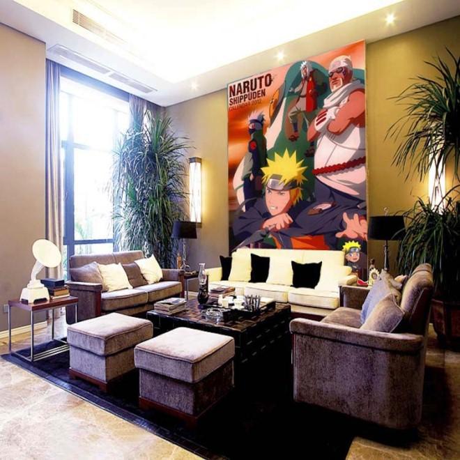 Gambar Desain Wallpaper Dinding Motif Naruto