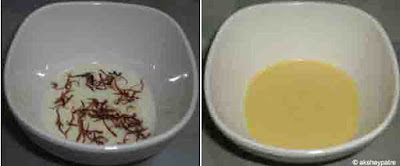 soak the saffron in milk