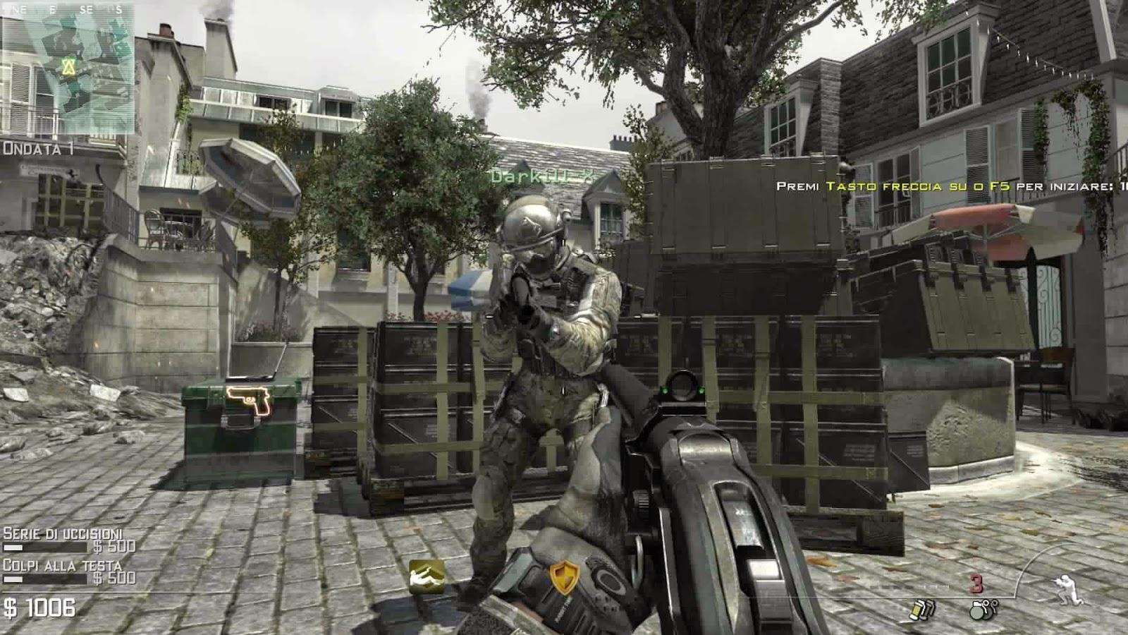 لعبة call of duty mw3 بحجم صغير